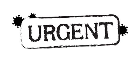 Covid Urgent stamp